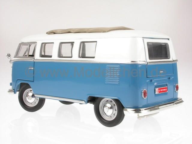 yatming vw t1 bus bulli samba van blau modellauto yatming. Black Bedroom Furniture Sets. Home Design Ideas