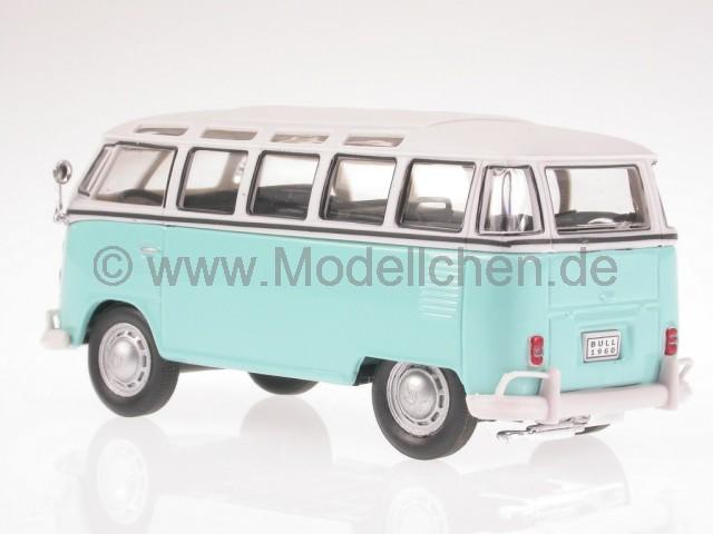 vw t1 samba hellblau weiss bus bulli modellauto cararama 1 43. Black Bedroom Furniture Sets. Home Design Ideas