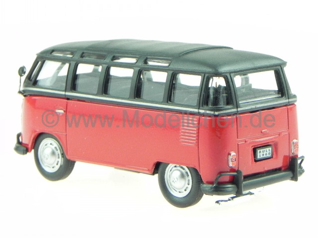 cararama vw t1 samba rot schwarz bus bulli modellauto in. Black Bedroom Furniture Sets. Home Design Ideas