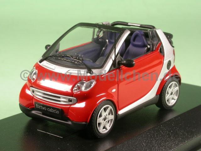 smart fortwo cabrio phatred modellauto minichamps 1 43. Black Bedroom Furniture Sets. Home Design Ideas