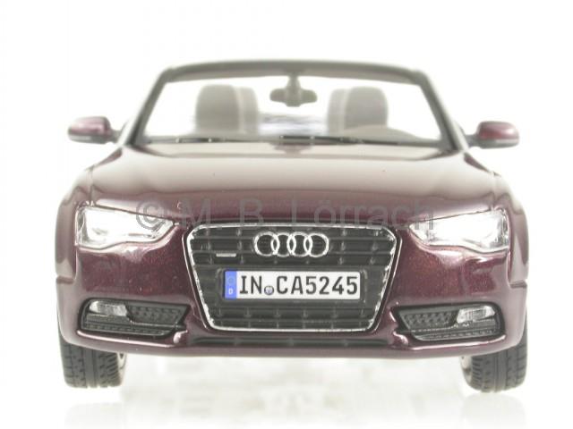 1:43 Norev Audi A5 Cabriolet Shiraz red DEALER NEW bei PREMIUM-MODELCARS