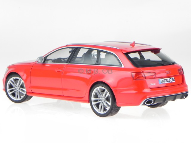 audi a6 c7 rs6 avant 2013 rot modellauto 110012011. Black Bedroom Furniture Sets. Home Design Ideas