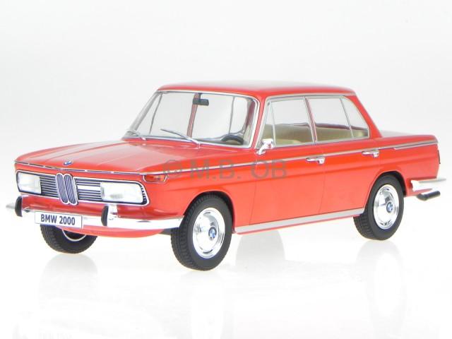 Bmw 2000 Ti Typ 121 1966 Rouge Véhicule Miniature 18041 Mcg 1:18
