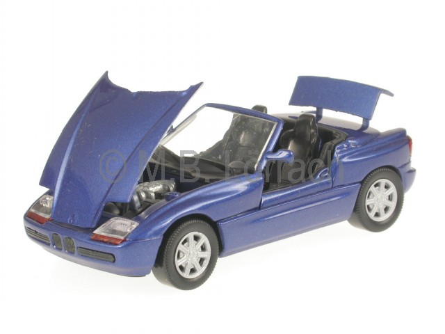 bmw z1 blau kaufen bmw z1 blau 1988 minichamps modellauto. Black Bedroom Furniture Sets. Home Design Ideas