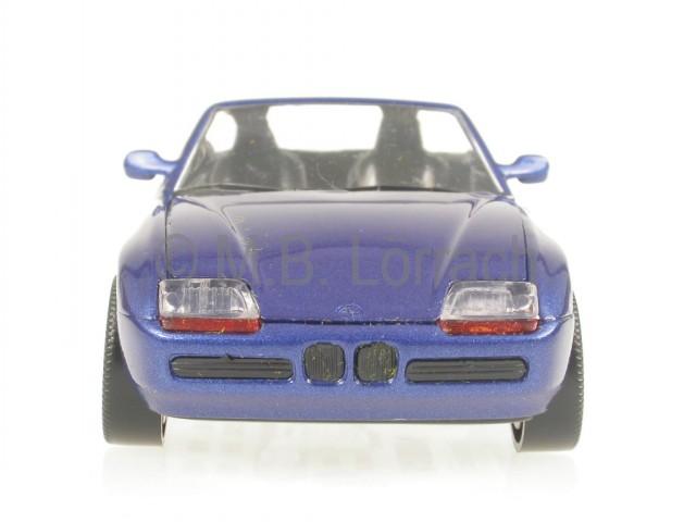 BMW Z1 blau Modellauto Schabak 1:43 Präzisionsmodell made in Germany