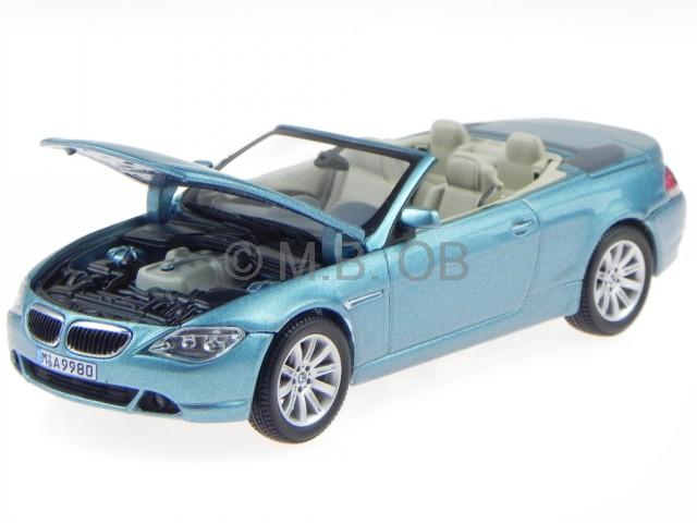 Bmw E64 6er Reihe Cabrio Bleu Véhicule Miniature Kyosho 1:43