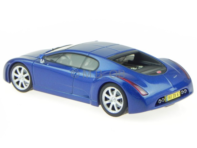 bugatti chiron 18 3 1999 blau modellauto 50911 autoart 1 43 ebay. Black Bedroom Furniture Sets. Home Design Ideas