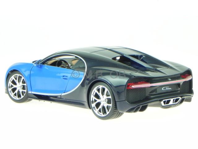 bugatti chiron blau schwarz modellauto 11040 bburago 1 18 ebay. Black Bedroom Furniture Sets. Home Design Ideas