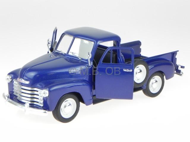 Chevrolet 3100 Pick Up 1953 dunkelblau Modellauto 1:18 Welly