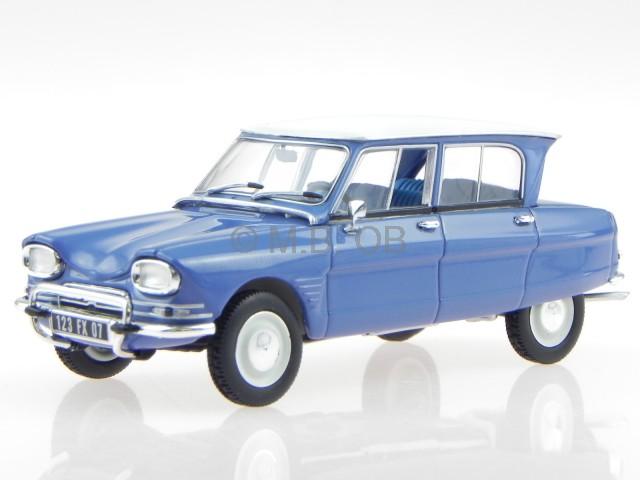 Citroen Ami 6 1967 Brouillard bleu véhicule miniature 153505 Norev 1 43