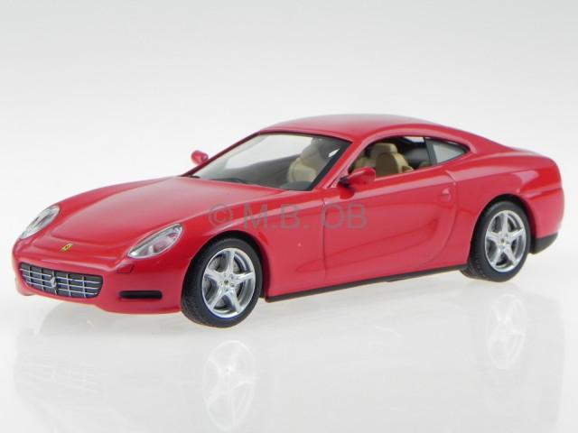 Ferrari 612 Scaglietti Rot Modellauto In Vitrine 1 43 Ebay
