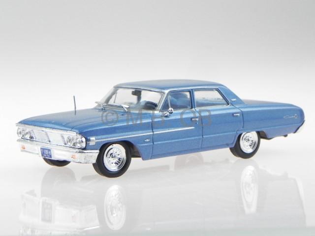 Ford Galaxie 1964 bleu metallic véhicule miniature WB132 blancbox 1 43