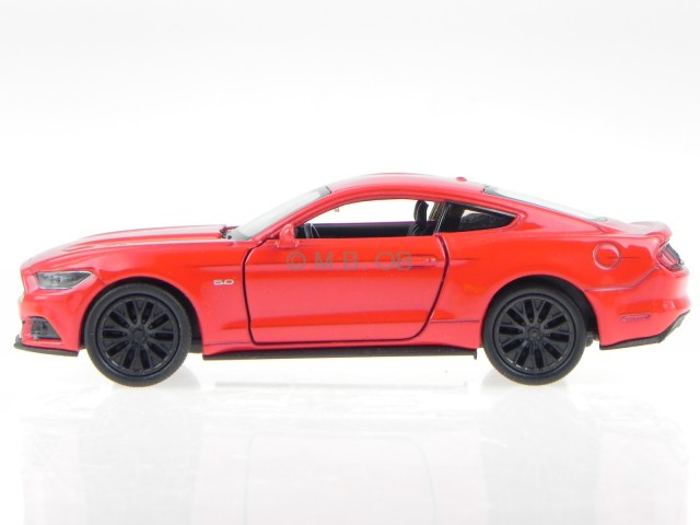 ford mustang gt 2015 rot modellauto 43707 welly 1 34 ebay. Black Bedroom Furniture Sets. Home Design Ideas