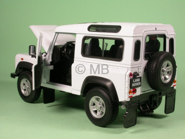 land rover defender kurz weiss modellauto welly 1 24 ebay. Black Bedroom Furniture Sets. Home Design Ideas