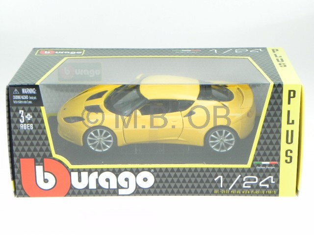 lotus evora s 2011 gelb modellauto 21064 bburago 1 24 ebay. Black Bedroom Furniture Sets. Home Design Ideas