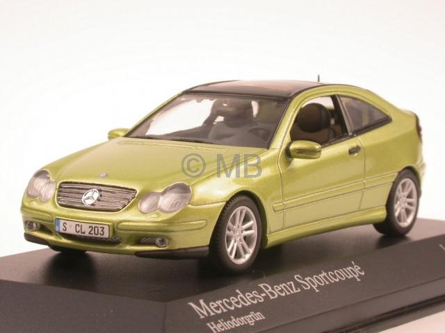Mercedes C203 C-classe Sportcoupé vert véhicule miniature Minichamps 1 43