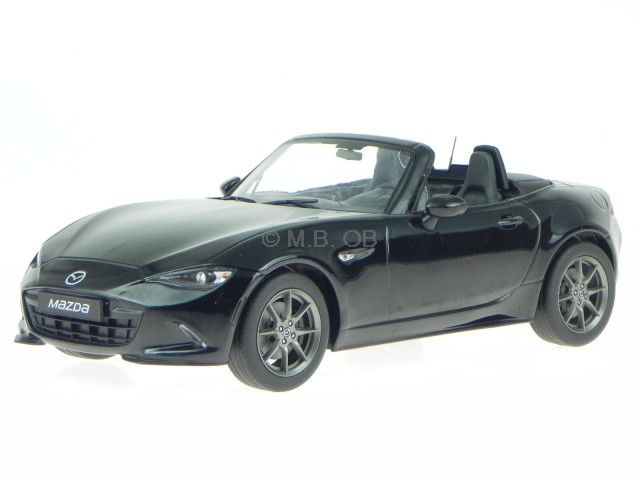 Mazda MX5 MX-5 2015 noir véhicule miniature 1800196 T9 1 18