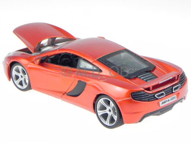 mclaren mp4 12c orange modellauto 21074 bburago 1 24 ebay. Black Bedroom Furniture Sets. Home Design Ideas
