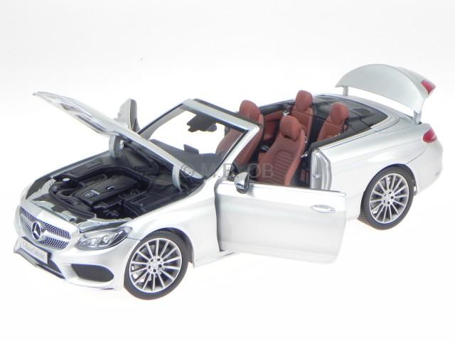 Mercedes A205 C-classe Cabrio Iridium Argent Véhicule Miniature Iscale 1:18