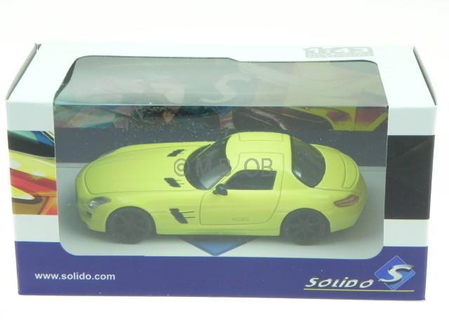 2010 Solido 421436170-1//43 Mercedes-Benz SLS AMG amarillo-nuevo