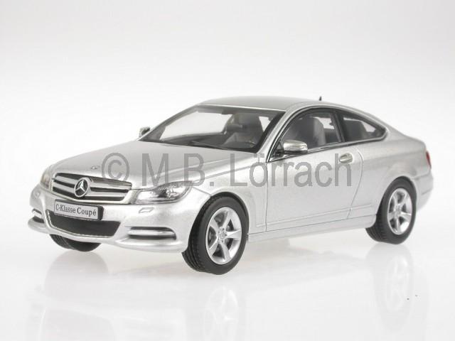 Mercedes-C204-C-Class-Coupe-iridiumsilver-diecast-model-car-Norev-1-43