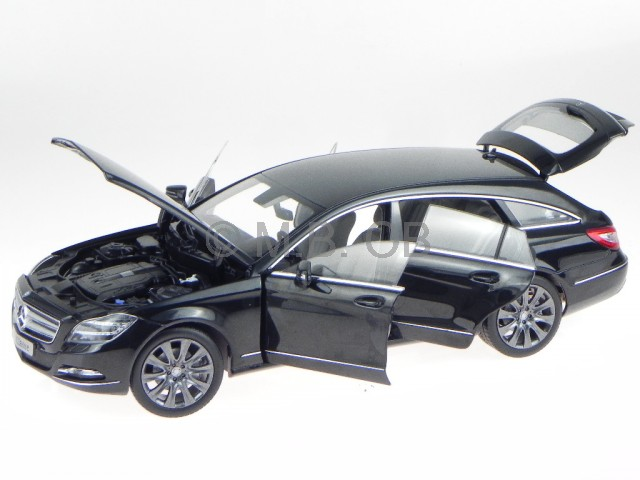 Mercedes X218 CLS Shooting Brake obsidiannero modellino Norev 1/18