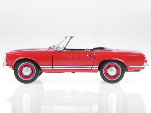 Mercedes R113 W113 230 SL Pagode rot Modellauto Leo 1:24
