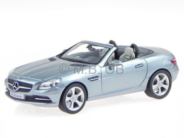 Mercedes R172 SLK 2011 galenit argent véhicule miniature Schuco 1 43