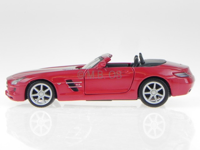 Mercedes-Benz SLS AMG Roadster Cabrio Rot R197 Ab 2009 1//43 Bburago Modell Aut..