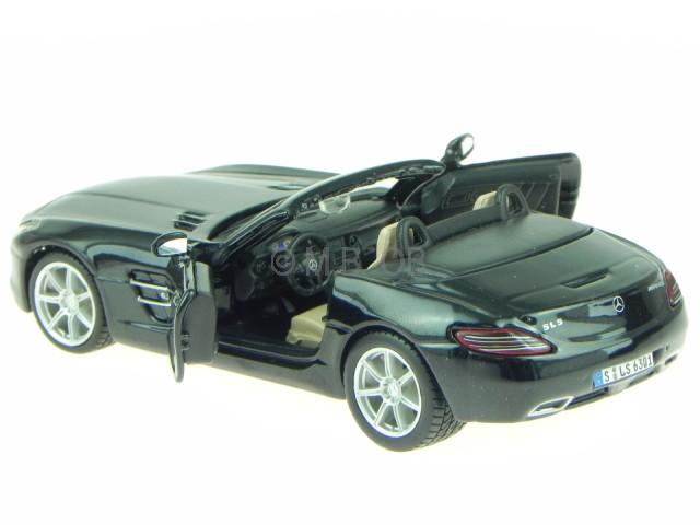 mercedes r197 sls amg roadster schwarz 43035 modellauto. Black Bedroom Furniture Sets. Home Design Ideas