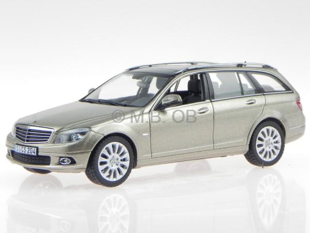 Mercedes S204 C-classe T-Modell sanidin creme véhicule miniature Schuco 1 43