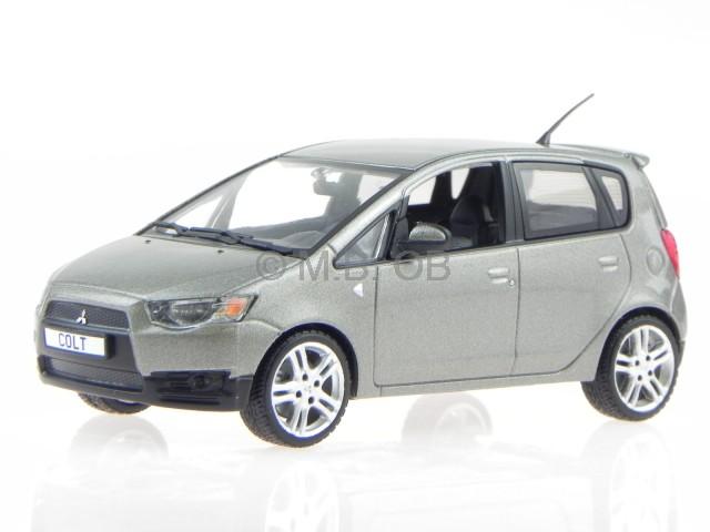 Mitsubishi Colt 5-door 2009 grey diecast model car 15181 Vitesse 1/43