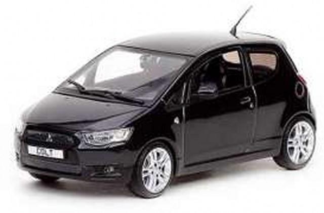 Mitsubishi-New-Colt-3-door-black-diecast-model-car-29273-Vitesse-1-43