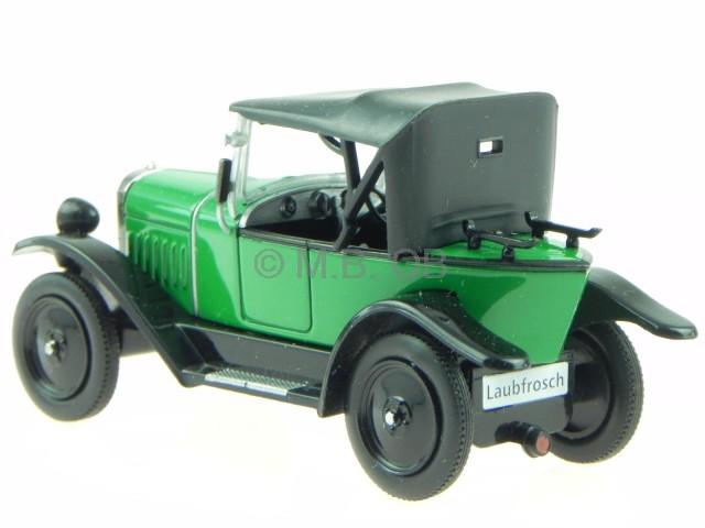 1924-1926 IXO 1:43 grün Opel 4//12 PS Laubfrosch