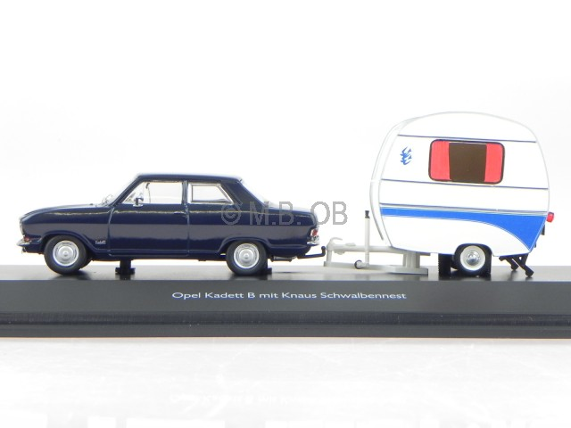 opel kadett b knaus schwalbennest modelcar 450294700 schuco 1 43 ebay. Black Bedroom Furniture Sets. Home Design Ideas