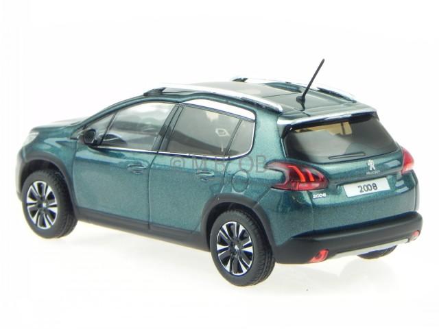peugeot 2008 2016 emerald crystal blue modelcar 479845. Black Bedroom Furniture Sets. Home Design Ideas