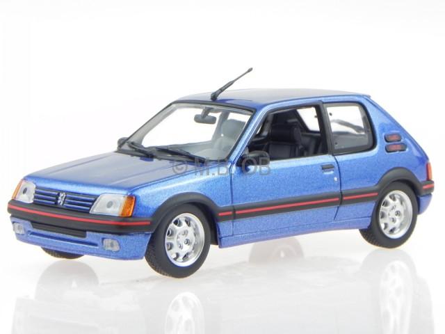 PEUGEOT 205 GTI 1985 NERO 1:43 Atlas modello di auto