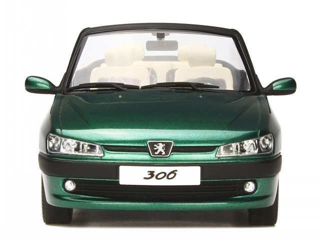 Details about Peugeot 306 convertible Roland Garros 1999 green diecast  modelcar OT583 Otto 1:1