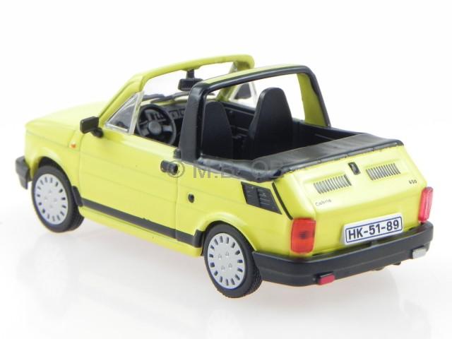 polski fiat 126 p cabrio gelb ostalgie modellauto in. Black Bedroom Furniture Sets. Home Design Ideas