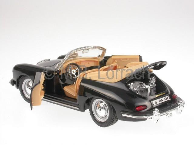 porsche 356 b cabrio black modellauto bburago 1 24 ebay. Black Bedroom Furniture Sets. Home Design Ideas