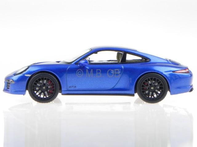 Details About Porsche 911 991 Carrera 4 Gts Coup Saphir Blue Modelcar 450758100 Schuco 143