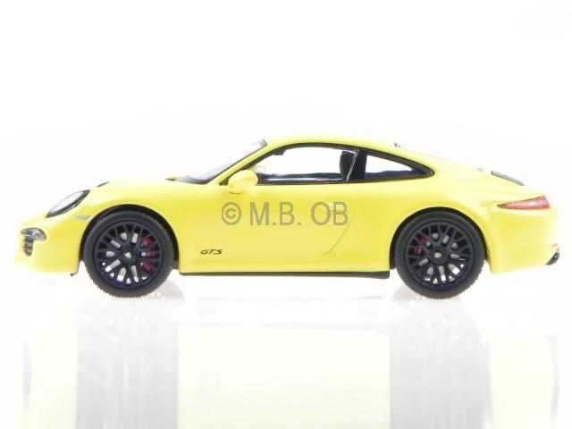 Details About Porsche 911 991 Carrera Gts Coupe Racing Yellow Modelcar 450757200 Schuco 143