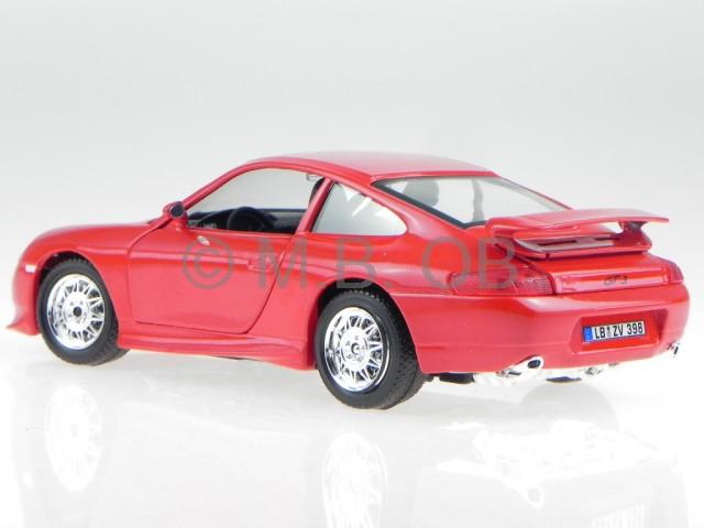porsche 911 996 gt3 rot modellauto 22084 bburago 1 24 ebay. Black Bedroom Furniture Sets. Home Design Ideas