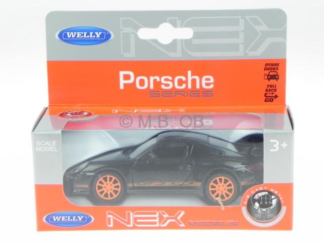 Porsche 911 Gtr 3 Rs 2007 Black 1:18 Model 18024BK WELLY 997