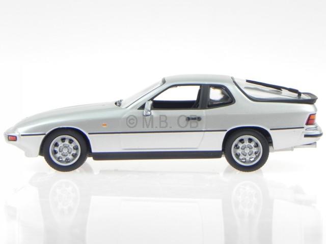 Porsche 924 1984 silber Modellauto 940062120 Maxichamps 1:43