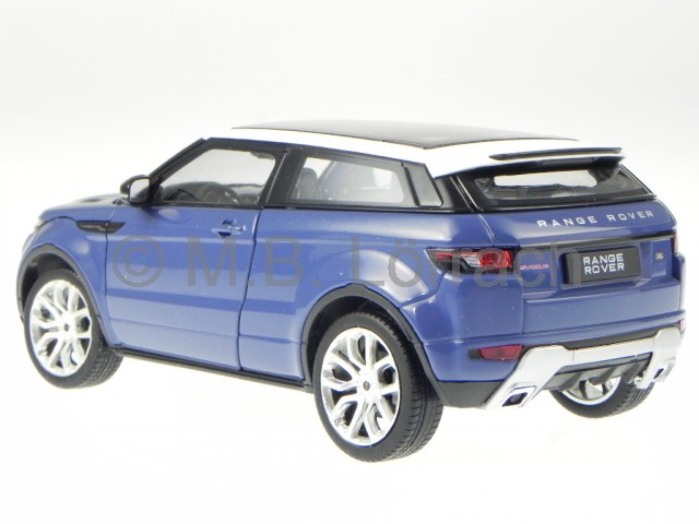 land rover range rover evoque blau weiss modellauto 24021 welly 1 24 ebay. Black Bedroom Furniture Sets. Home Design Ideas