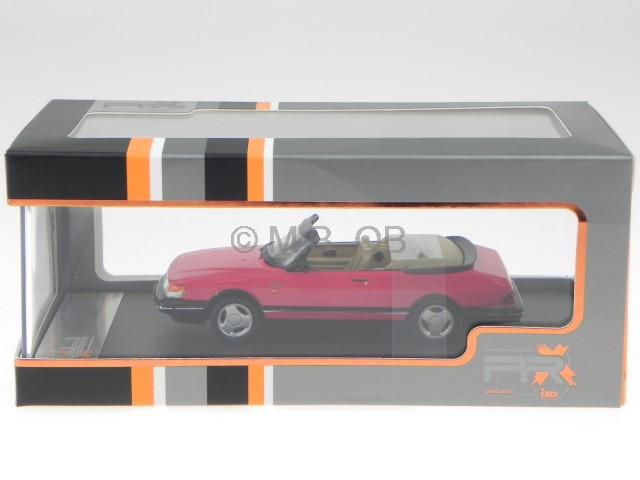 Saab 900 Cabriolet Monte Carlo rot 1991 diecast 1:43 PremiumX