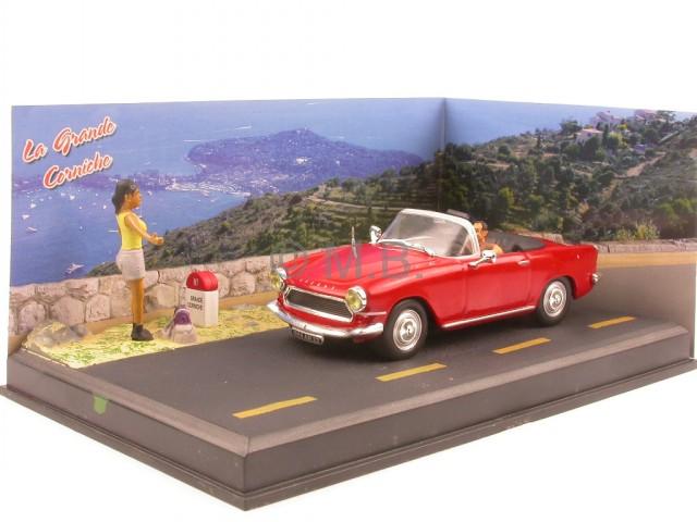 Fiat 128 3p Coupe rot Blister 1:43 Altaya Modellauto