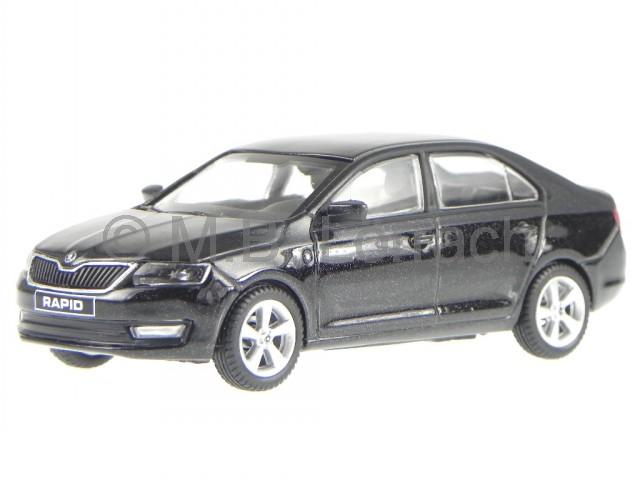Skoda Rapid Limousine Candy Weiss Ab 2012 NH 143AB022E 1//43 Abrex Modell Auto mi
