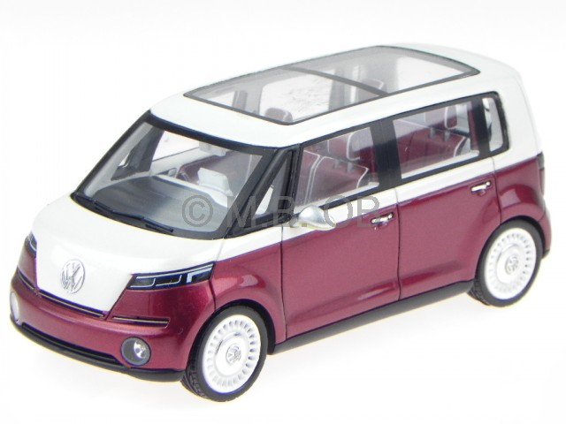 vw bus studie der neue bulli red modelcar spark 1 43. Black Bedroom Furniture Sets. Home Design Ideas